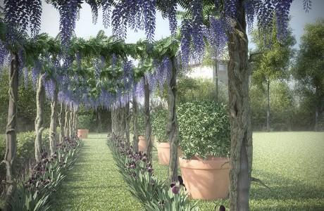 Autodesk, Jardin, 3Ds Max, Végétation, Glycine, modélisation, Infographie, Image de synthèse