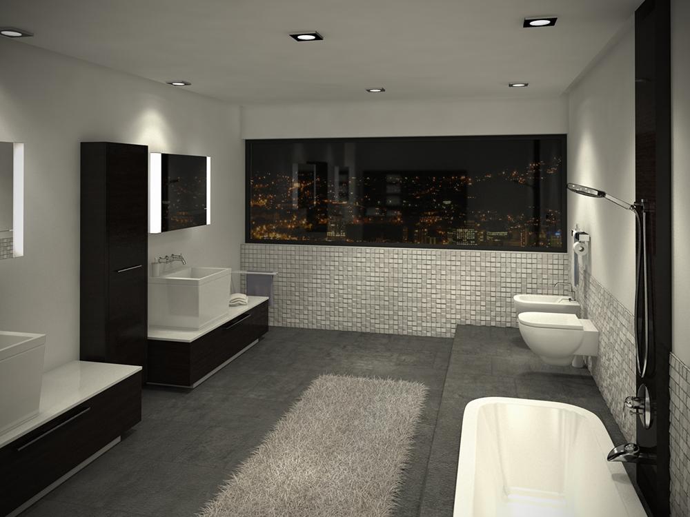 Caustic Corner – Salle de bain building